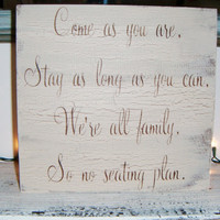 Wedding Seating Plan, Casual Wedding Seating Chart Sign 1 READY TO SHIP