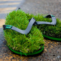 Kusa Grass Flip Flops by Yashin for Yashin - Free Shipping