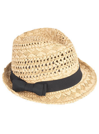Natural trilby with black band - Hats - Accessories - Dorothy Perkins