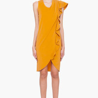 Viktor & Rolf Mustard Yellow Ruffle Dress for women | SSENSE
