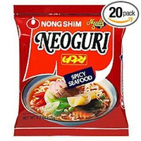 Nong Shim Neoguri Spicy Seafood Udon Type Noodle, 4.2-Ounce Packages (Pack of 20)