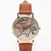 UrbanOutfitters.com &gt; Around the World Leather Watch