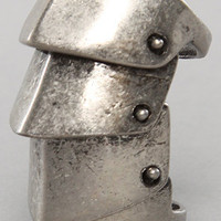 *Accessories Boutique The Burnish Bendable Armor Ring in Silver : Karmaloop.com - Global Concrete Culture