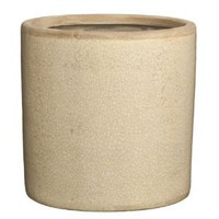 HomArt Mulberry Ceramic Cylinder Vase, Small, White