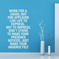 Work for a cause wall decal by Casadart on Etsy