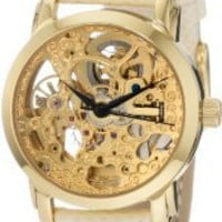 Amazon.com: Akribos XXIV Women's AKR431YG Gold Swiss Automatic Skeleton Watch: Watches