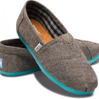 Last Chance - Teal Pop Herringbone Women's Classics | TOMS.com