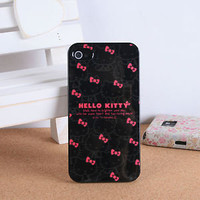 Original Hello Kitty Black Pink Bows Cell Phone Soft Case for iPhone 4 / 4S | eBay