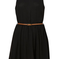 Open Back Skater Dress by Rare** - Topshop