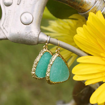 Sweet Mint Druzy Earrings, Women&#x27;s Sweet Country Inspired Jewelry
