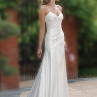 Buy Charm Elegant Exquisite  Charmeuse Spaghetti Straps Design Wedding Dress