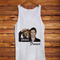 James Franco With Bear Lovely Cute _ Tank Top Men And Women Size S,M,L,XL,XXL Design By : mbedugal