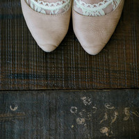 Peep Toe Socks, Lace Short Socks, Pretty Lace Socks, Short Boot Sock, Girl's Floral All Lace Sock in Mint (BS-102)