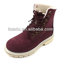 2014 Hot Sale KUADU Red Wine Color Suede Leather Women's Fashion Winter Boots, View women's boots, KUADU Product Details from Yiwu Kuadu Shoes Firm on Alibaba.com