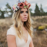 Moonlight - Bohemian Luxe Silk Flower Crown
