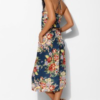 Pins And Needles Floral Culotte Jumpsuit - Urban Outfitters