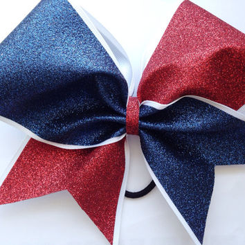 Spangled Glitter Cheerleading Bow
