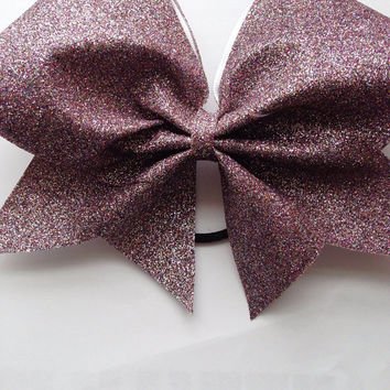 Confetti Glitter Cheerleading Bow