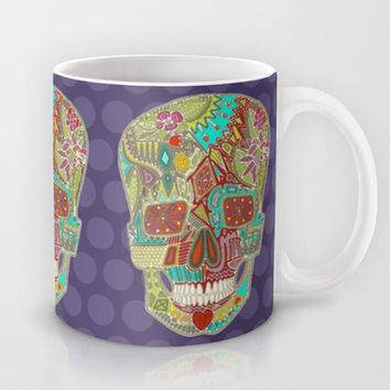 flower skull spot Mug by Sharon Turner | Society6