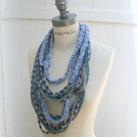Loop Scarf  Necklace Scarf Multicolor Infinity Scarf  - By PIYOYO