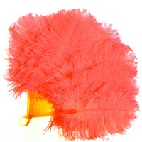20s Pink Ostrich Feather Fan - Sarara Couture