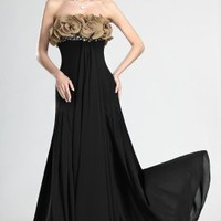 New Gorgeous Strapless Evening Dress - Basadress.com
