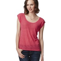 OPEN-BACK STRIPED TEE