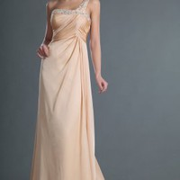 One shoulder New Attractive Long Evening Dress - Basadress.com