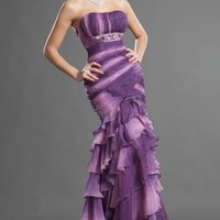 Strapless New Elegant Strapless Evening Dress - Basadress.com