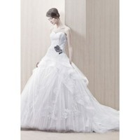 Tulle Strapless Sweetheart Neckline A-Line Wedding Dress - Basadress.com