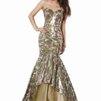 Jovani 7830, Lustrous Camo Hourglass Dress