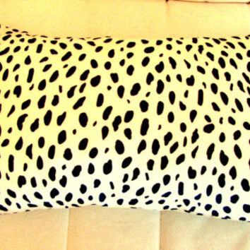 Dog print Lumbar  – Luxury animal velvet pillow cover 12x18