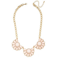 Blush Petals Trio Necklace
