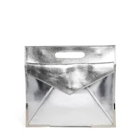 ASOS | ASOS Leather Organiser Clutch Bag With Metal Corners at ASOS
