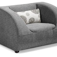 Zuo Modern - Event in Gray Armchair w/Light Gray Floral - 900030