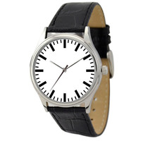 Minimalist  Watch (White backgroud / Bold Stripes)