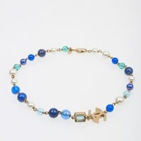 Chanel Blue Beads & Pearls Necklace