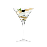 Malika Grand Gold Spiral Cocktail Glass - Set of 2 from LSA