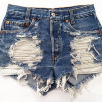 Vega shorts studded cut offs by Omeneye on Etsy