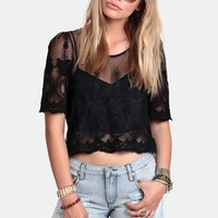 Dark Room Cropped Blouse