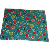 Turquoise Blue Mousepad with Colorful Polka Dots | kathisewnsew - Housewares on ArtFire