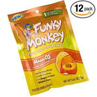 Funky Monkey Snacks MangOJ, 0.42-Ounce Bags (Pack of 12)