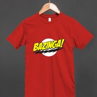 Bazinga! Big Bang Theory Logo T Shirt