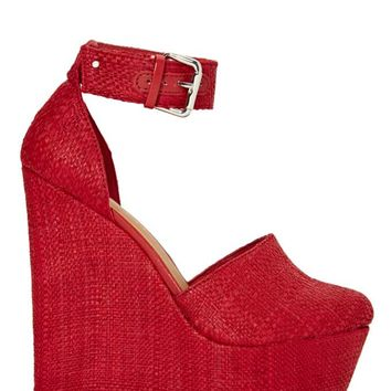 Shoe Cult Palmilla Wedge - Red