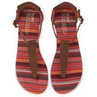 Brown Leather Woven Women's Playa Sandals