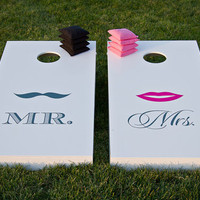 Wedding Cornhole Set  w/ Bags