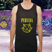 Nirvana Purvana cat for men,women,tank top