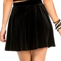 SALE-Black Velvet Holiday Skirt