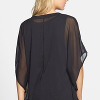 BP. Sheer Kimono Sleeve Cardigan (Juniors) | Nordstrom