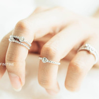 3 set cz twisted knuckle ring,jewelry rings,fashion rings,anniversary ring, unique rings,rings for women,girls rings,cz knuckle rings